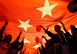 """""""共绘一幅画,共传一面旗""""——附中党总支开展""""我和我的祖国""""主题党日活动"""